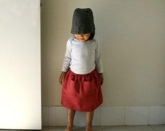 GIRLS LINEN SKIRT / toddler / flax skirt / eco / natural /  organic / made in australia by pamelatang