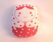 "carminita ""queen of hearts"" --- matryoshka doll-- red n white - (ship in 3 days)"