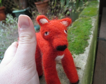 Adorable Needle Felted Red Fox
