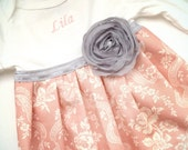 SHABBY CHIC embroidered Baby GOWN .Monogrammed..girls clothing.. coming home outfit..new baby