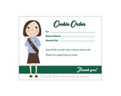 Girl Scout Cookie Order Thank You Card - Brownie
