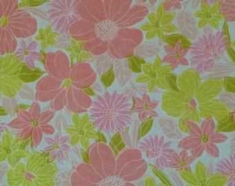 Pink and Chartruese Twin Flat Sheet