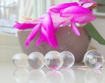 3 pcs. 12mm CLEAR Quartz Crystal Balls, AA Quality, Genuine Round Quartz Spheres, Chakra Stones, Crystal Ball, 1/2 inch, No Hole, undrilled