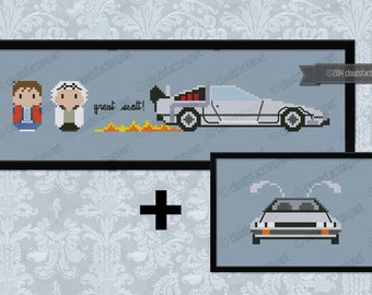 Back to the Future parody - Cross stitch PDF pattern