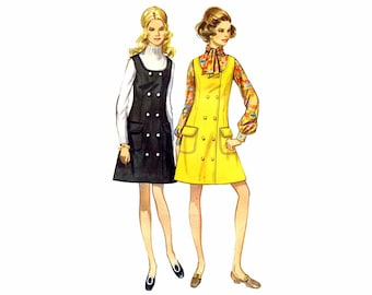 1960s Double Breasted Jumper Butterick 5473 Vintage Sewing Pattern Size 8 Bust 31 1/2 UNCUT