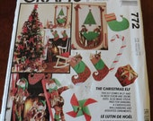 Vintage McCalls Crafts 772 The Christmas Elf Sewing Pattern
