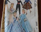 Vintage 50s McCalls 2255 High Heel Figure 18 inch Dolls Wardrobe