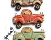 Pre-Order / On the Road / Vintage Ceramic Truck Pendant