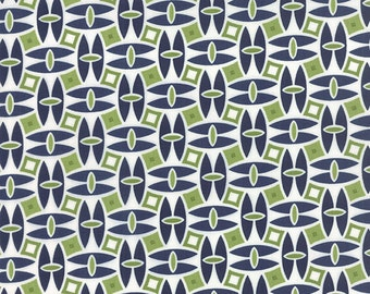 """16"""" piece/remnant - SALE - Daysail - Catamaran in Navy Blue: sku 55101-14 cotton quilting fabric by Bonnie and Camille for Moda Fabrics"""