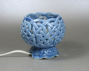 Light Blue Celtic Knotwork Accent Lamp
