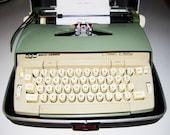 Vintage Coronet Typewriter Smith Corona Electric Mid Century Mod Retro Sea Green