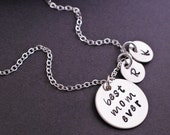 Best Mom Ever Necklace, Mother's Necklace, Personalized Christmas Gift for Mom
