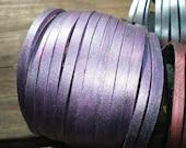 Cuff Lilac Purple Sliced Cut Leather Cuff Bracelet