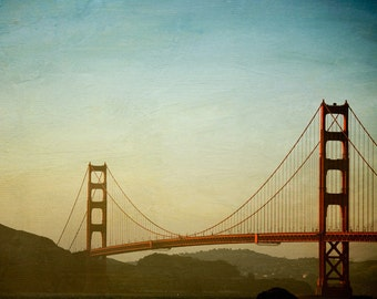 "Golden Gate Bridge, Sunset, San Francisco Photography, California Art Print, Architecture Print, Travel Photography ""The Span"""