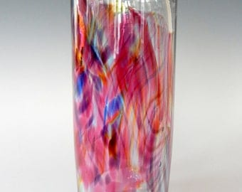 Watercolor Series Hand Blown Art Glass Vase by Rebecca Zhukov