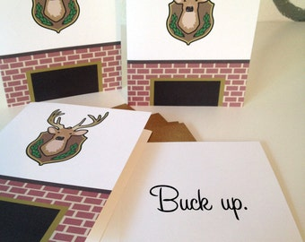 buck up - note cards - set of 4
