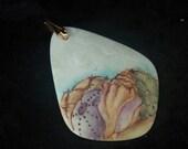 Handpainted Porcelain  Pendant