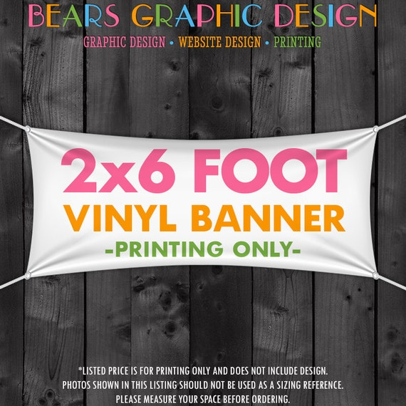 2x6 Foot Banner, Craft Show Banner,  Craft Show Display, Craft Fair Banner, Table or Tent Banner, Full Color Banner Printing