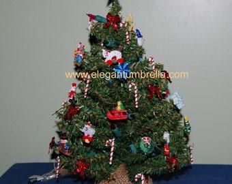 Pre-lit tabletop Christmas tree Design 9