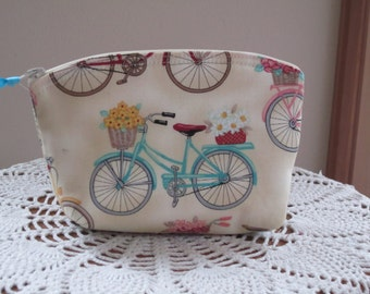 Bridesmaid Wedding Clutch Cosmetic Bag  Purse Essentail Oils case Cruiser Floral Beach Flower Bike Made in USA