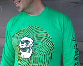 Private Hooligan long sleeved green t-shirt by Bwana Spoons