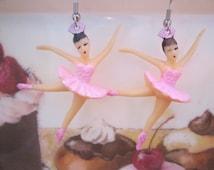 Kitschy Pink Ballerina Earrings