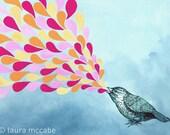 Birdsong 5x7 art print