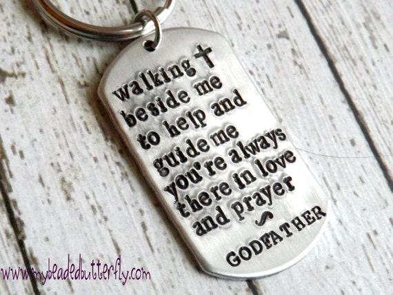 Godparent Keychain Gift For Godparents Gift For: Godfather Gift-Godparent Gift-Godfather Keychain-religious