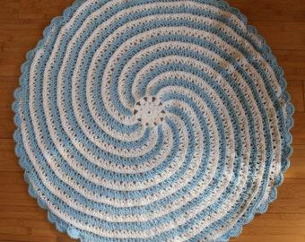 Spiral crochet baby blanket pattern, instant pdf dowload, round blanket, baby afghan pattern, crochet pattern, baby shower gift, circular