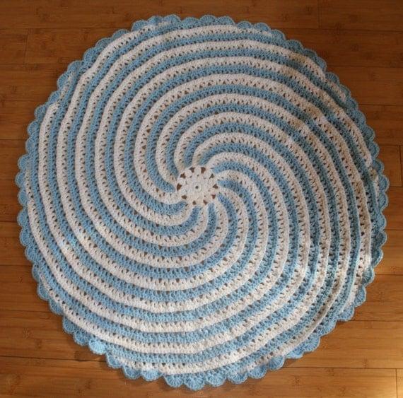 Spiral crochet baby blanket pattern instant pdf dowload