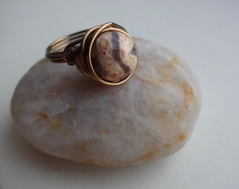 Large Bronze Orange Ring