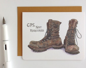 Travelling Boots Card