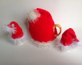 knitting patter santa hat tea and egg cosy pdf file