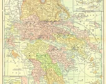 old map of Greece, a vintage printable digital map no. 776