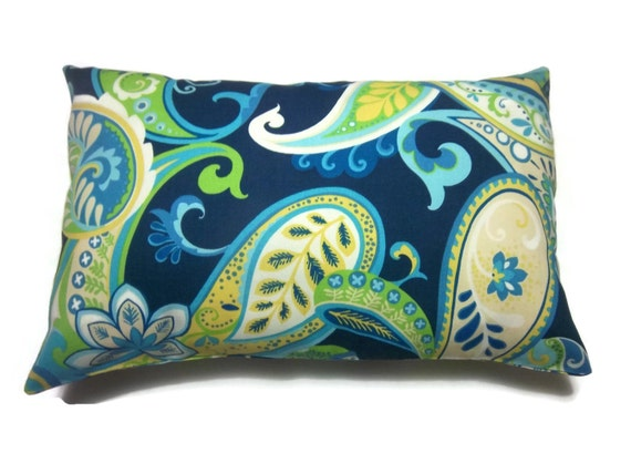 Navy And Teal Throw Pillows: Decorative Pillow Cover Lumbar Navy Blue Yellow Turquoise