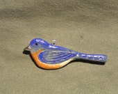 Eastern Bluebird Songbird Home Decor Hanger-Sculpted Hand Painted