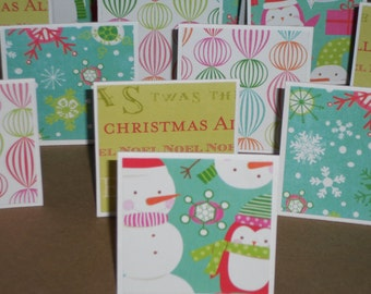 Christmas Fun  Note Cards / Gift Tags / Place Cards Set Of 20