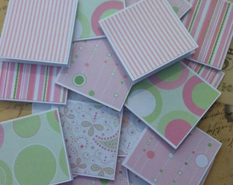 Pink Polka Dots mini thank you cards- set of 20