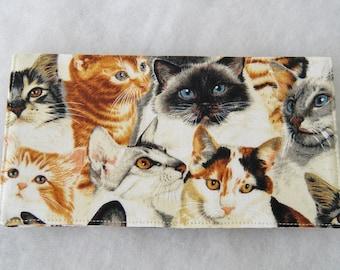 Checkbook Cover - Realistic Cats
