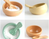 Salt Cellar and Spoon - color options - MADE TO ORDER