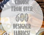 Add Personalization - DESIGNER Pet Bed Duvet Cover - Stuff with Pillows - HUGE Selection of Fabrics and Sizes!