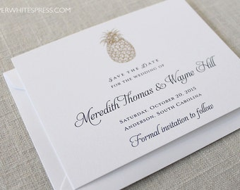 Pineapple Save the Dates, Tropical Save the Dates, Hawaii Save the Dates, Beach Save the Dates, Destination Wedding, Southern Wedding