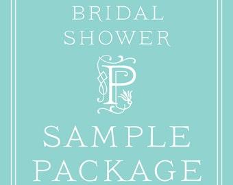 Bridal Shower Invitation SAMPLE PACKAGE