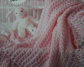 Crochet Patterns Knitting Patterns Baby Afghans So Sweet Baby Afghans Leisure Arts Little Books Blanket Vintage Paper Original NOT a PDF