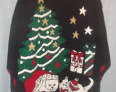 UGLY  Christmas  sweater   -  vintage