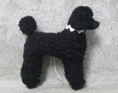 RESERVED: 1 Black Poodle Ornament and 1 Cream Labradoodle Ornament