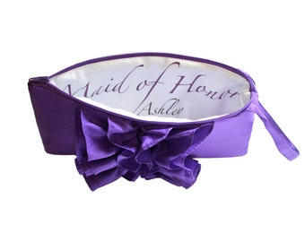 Maid of Honor Personalized Inscription. Custom Clutch, Customizable Inscription Add On- Inscription Option