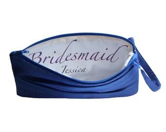 Bridesmaid Monogram Clutch. Custom Clutch, Customizable Inscription Add On- Inscription Option