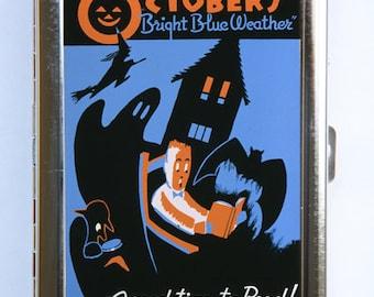 Halloween Cigarette Case Wallet Business Card Holder retro october