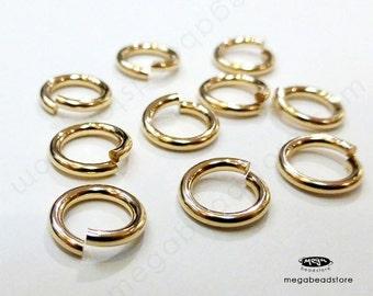 10 pcs 8mm 16 Gauge 14K Gold Filled Jump Rings Open Connectors F29GF